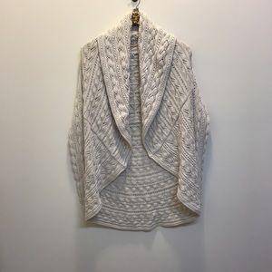 Cabi drape front open cardigan. Light tan size M